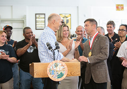 Florida Governor Rick Scott visits